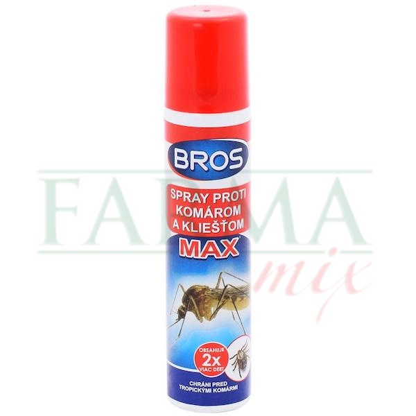 BROS spray proti komárom a kliešťom MAX, 90ml.