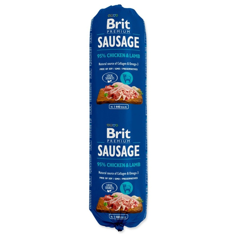 BRIT Dog Saláma Chicken & Lamb 800g