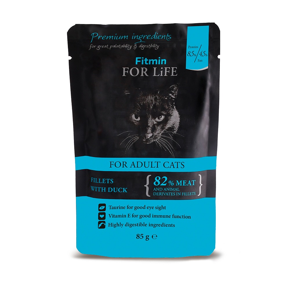 FITMIN Cat For Life Pouch Adult Duck kapsička 85g