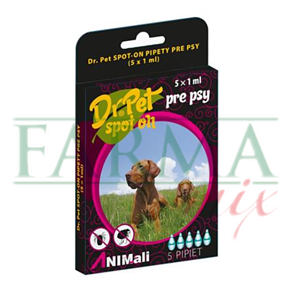 DR.PET spot-on pipety pre psy 5x1ml